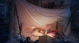 ciel de lit tipi atmosphera pour enfant